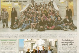 FHS Students Involved in German Foreign Exchange Program Make Magazine