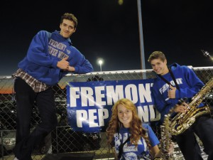 Fremont's pep band has plays at every game. By: Marissa Barnes
