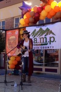 Kabrina Stucki recently performed at the Ogden Moon Harvest Festival.