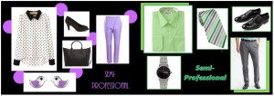 Semi-professional internship outfits can be more playful than outfits for professional ones.