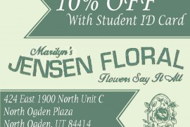 Jensen Floral offers 10% Silver Wolf Discount
