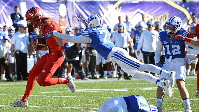 Although BYU's defense seems like they at times can defy gravity, it didn't stop the Utes from dominating at the Vegas Bowl in 2015.  Ethan Miller / Getty Images