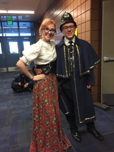 From ensemble members to the Police Chief, Tanner Sase, everyone's costume was hand picked and fitted to create the world of Redhead.  Photo Cred: Maddison Tenney