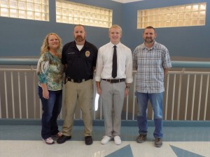 Mr Ballstaed, Gage Bailey, Marcee and Erik Bailey