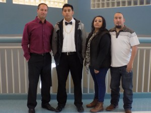 Mr. Melaney, Robert Aparicio, Claudia and Robert Aparicio