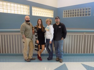 Mr. Pollard, Emily Nelson, Raylyn and Adam Nelson