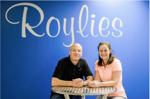 The owners of Royalies, Sue and Bill Whitelock, came from England in 2014. Photo Cred: Lori Romney Photography