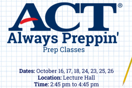 ACT Prep Classes to begin soon