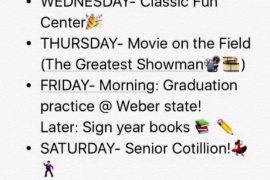 Senior Week Activities