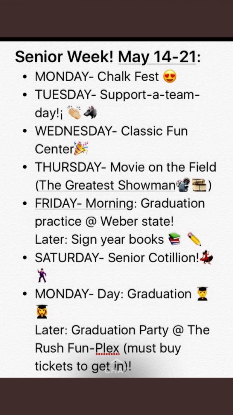 Senior Week Activities
