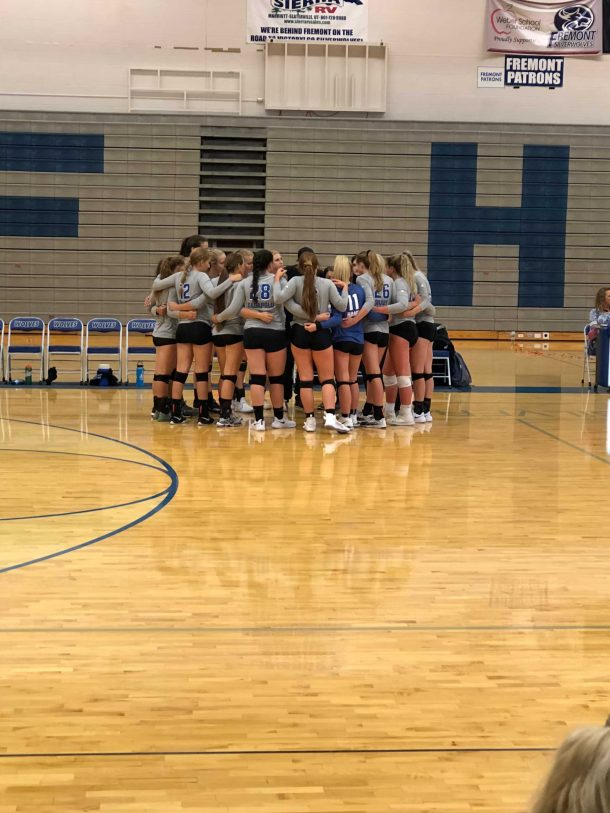 Volleyball takes a loss against Bingham Miners